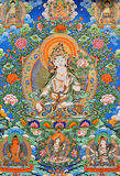 Pintura de la religión de la cultura de China Tíbet Fotografía de archivo libre de regalías