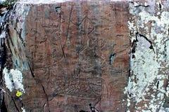 Pintura de la roca Imagenes de archivo