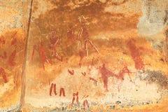 Pintura de la roca de los bosquimanos imágenes de archivo libres de regalías