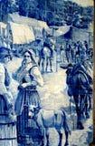 Pintura de la teja de Oporto Fotografía de archivo libre de regalías