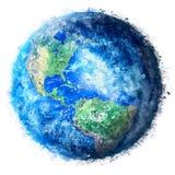 Pintura de la tierra del planeta stock de ilustración