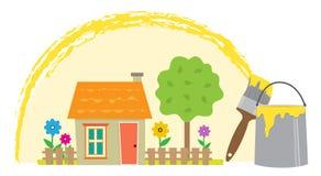 Pintura de la vecindad Fotos de archivo