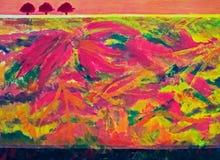 Pintura de las impresiones del otoño Fotos de archivo