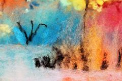 Pintura de las lanas imagen de archivo
