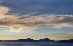 Pintura de las nubes Fotos de archivo