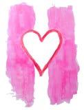 Pintura de las tarjetas del día de San Valentín Imagen de archivo libre de regalías