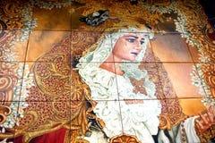 Pintura de los azulejos Imagen de archivo libre de regalías