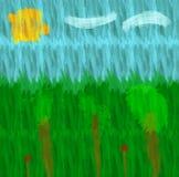 Pintura de los cabritos stock de ilustración