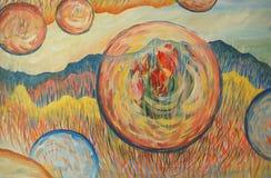 Pintura de los colores de petróleo Imagenes de archivo