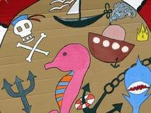 Pintura de los niños Foto de archivo libre de regalías