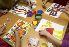 Pintura de los niños Foto de archivo