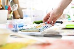 Pintura de los pigmentos Fotografía de archivo