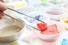 Pintura de los pigmentos Imagen de archivo