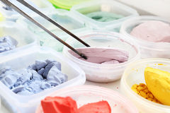 Pintura de los pigmentos Imagen de archivo libre de regalías