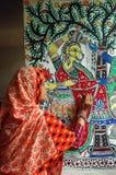 Pintura de Madhubani em Bihar-India Foto de Stock