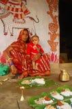 Pintura de Madhubani en la Bihar-India Fotografía de archivo