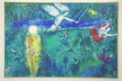 Pintura de Marc Chagall, Marc Chagall Museum, Niza, Francia fotografía de archivo libre de regalías