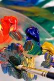 Pintura de mezcla Imágenes de archivo libres de regalías