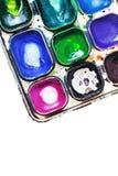 Pintura de 4 paintbox Fotos de archivo libres de regalías