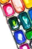 Pintura de 4 paintbox Imágenes de archivo libres de regalías