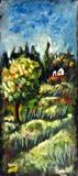 Pintura de paisagem Imagens de Stock