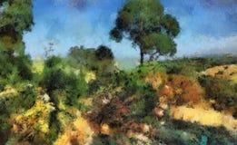 Pintura de paisagem Foto de Stock Royalty Free