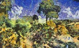 Pintura de paisagem Fotografia de Stock Royalty Free