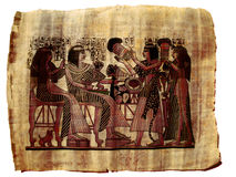 Pintura de papel de Egipto do papiro Fotografia de Stock Royalty Free
