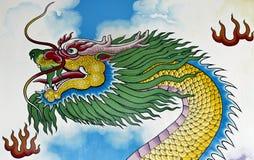 Pintura de pared china del dragón Imagen de archivo