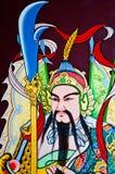Pintura de pared china hermosa del guerrero imágenes de archivo libres de regalías