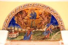 Pintura de pared de la iglesia Fotos de archivo