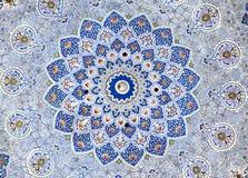 Pintura de pared de la mezquita de Kok Gumbaz, Uzbekistán imágenes de archivo libres de regalías