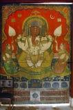 Pintura de pared de señor Ganesha Fotografía de archivo libre de regalías
