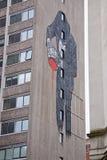 Pintura de pared del bloque de torre Fotos de archivo