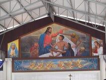 Pintura de pared del cementerio Imagen de archivo libre de regalías