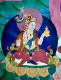 Pintura de pared en el monasterio de Hemis, Leh-Ladakh, la India fotos de archivo