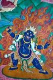Pintura de pared en el monasterio de Hemis, Leh-Ladakh, la India fotos de archivo libres de regalías