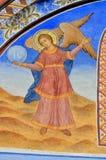 Pintura de pared en la iglesia del monasterio de Rila Foto de archivo libre de regalías