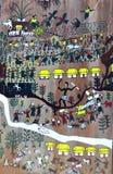 Pintura de pared india de la bella arte Foto de archivo libre de regalías