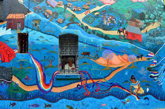 Pintura de pared, Jack Kerouac Alley, San Francisco  Foto de archivo libre de regalías