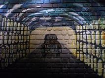 Pintura de pared de ladrillo Imagenes de archivo