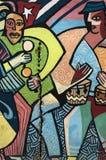 Pintura de parede colorida em Havana, Cuba Fotografia de Stock Royalty Free