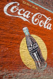 Pintura de parede da coca-cola do vintage Imagens de Stock