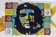 Pintura de parede de Che Guevara em Havana Imagens de Stock