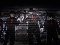 Pintura de parede do tijolo Fotografia de Stock Royalty Free