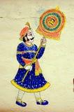 Pintura de parede no palácio da cidade, Udaipur Imagens de Stock Royalty Free