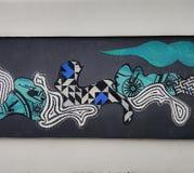 Pintura de parede pública fotografia de stock