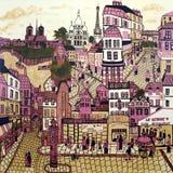 Pintura de Paris Imagens de Stock Royalty Free