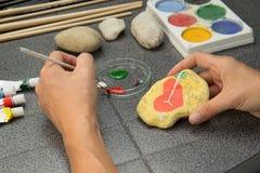 Pintura de pedra Imagem de Stock Royalty Free