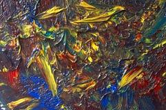 Pintura de petróleo Foto de archivo libre de regalías
